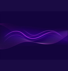 Background template with purple wavy lines vector