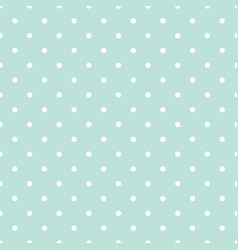 blue and white polka dot baby seamless vector image