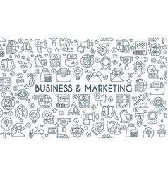 business and marketing thin linr banner vector image vector image