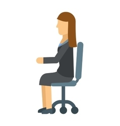 Business woman resting on office armchair vector image