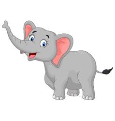 Cute cartoon elephant posing vector image vector image