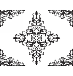 damask floral ornament vector image vector image
