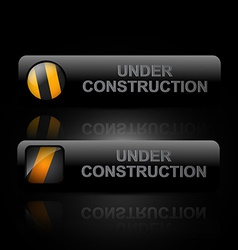 dark under construction design art vector image