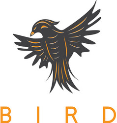 Design template of the abstract bird vector