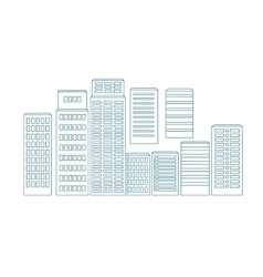 eps Set of line buildings vector image vector image