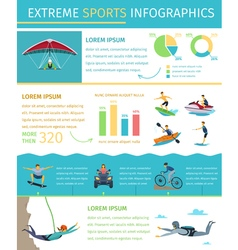 Extreme sport lifestyle flat infographic poster vector