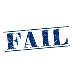 Fail blue grunge vintage stamp vector