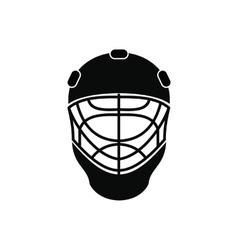 halloween hockey mask flat icon royalty free vector image. Black Bedroom Furniture Sets. Home Design Ideas