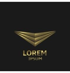 Golden logo icon vector image vector image