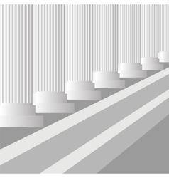 Grey columns vector