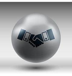 Handshake icon hake meeting business vector image