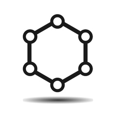 hexagonal molecule biology vector image