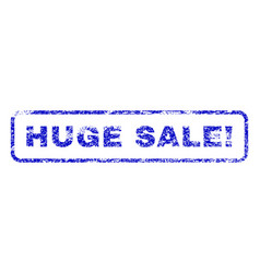 Huge sale exclamation rubber stamp vector