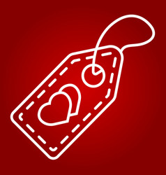 love sale tag line icon valentines day vector image vector image