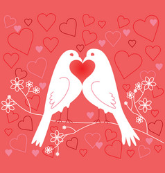 Lovebirds valentines day vector
