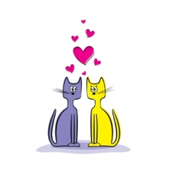 loving cats vector image vector image
