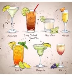 New Era Drinks Cocktail Set vector image vector image
