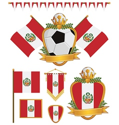 peru flags vector image vector image