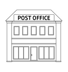 post officemail and postman single icon in vector image