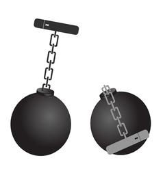 Prison ball cartoon vector