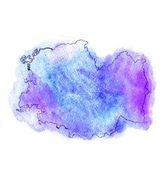 Romania watercolor map vector image vector image