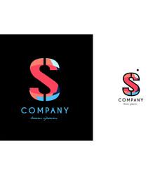 s blue red letter alphabet logo icon design vector image