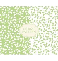 Seamless floral patterns set vintage background vector image vector image