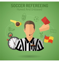 Soccer Refereeing vector image vector image