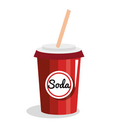 soda glass drink icon vector image