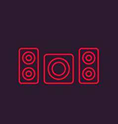 Subwoofer and speakers icon vector