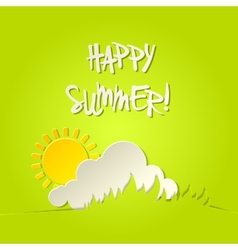 Sunny happy summer bacground card vector