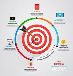 timeline infographics design vector image vector image
