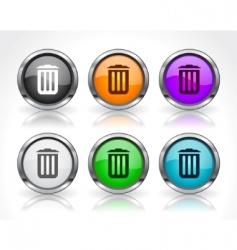 Website menu items vector