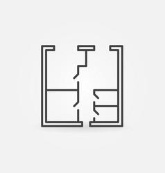 whiteprint concept icon vector image vector image