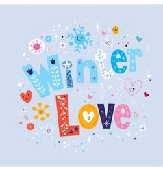 Winter love 2 vector