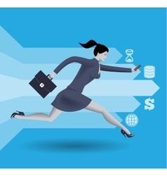 Digital market race business concept vector