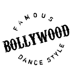 Famous dance style bollywood stamp vector
