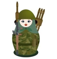 Matryoshka with a antitank grenade launcher vector