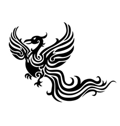 Phoenix tattoo vector
