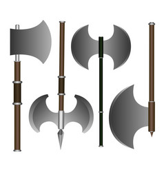 Set of weapons vector