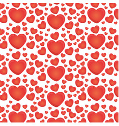 red love heart ballon backgound vector image