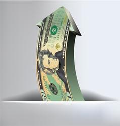 20 Dollar arrow Background vector image vector image