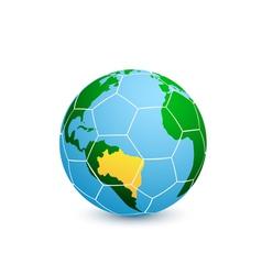 soccer planet vector image