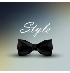 A black bow tie in low-polygonal style men fashion vector