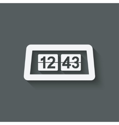 Flip Alarm Clock vector image