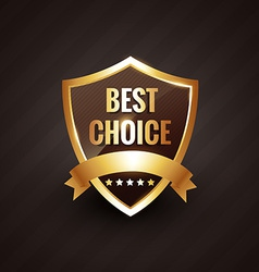 Best choice golden label symbol design vector