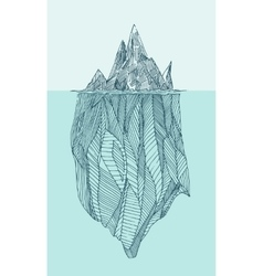 Iceberg vintage engraved hand drawn vector