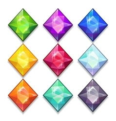 Jewels set vector