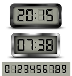 Digital clock t vector