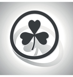 Clover sign sticker curved vector